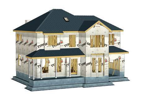 木别墅外墙呼吸纸安装